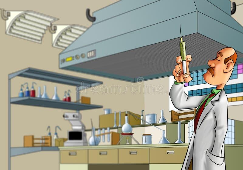 lab student medycyny royalty ilustracja