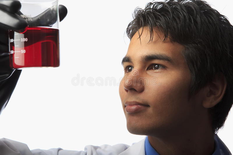 Download Lab Technician Holding A Beaker Stock Image - Image: 15199895