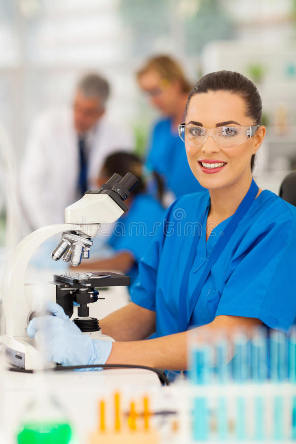 Download Lab technician laboratory stock image. Image of attractive - 32450561