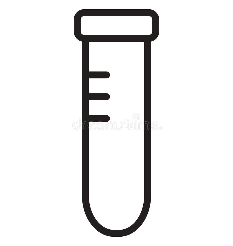 Lab Test Isolated Line Vector Icon that can be easily modified or edited. stock illustration