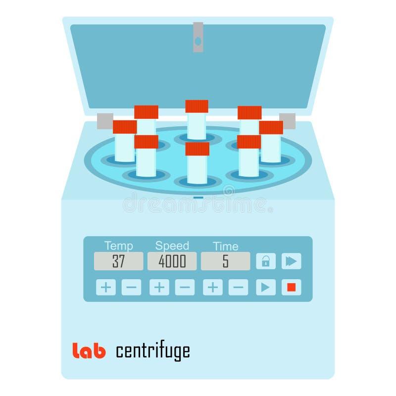 Lab wirówka ilustracja wektor