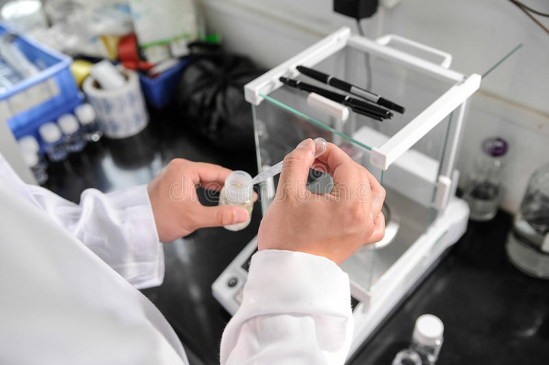 Lab worker stock images