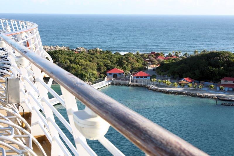 labadee Гаити круиза с корабля стоковое фото