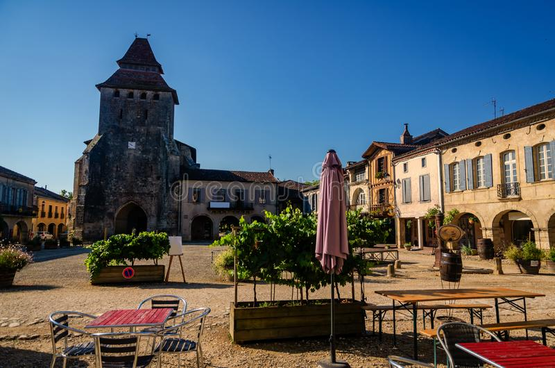 Labastide d`Armagnac is a beautiful village located in the department of the Landes, France stock images