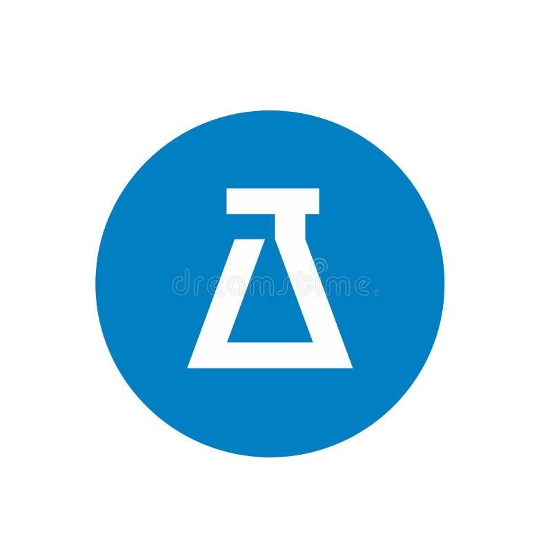 Labbcirkelsymbol Logo Vector Illustration royaltyfri illustrationer