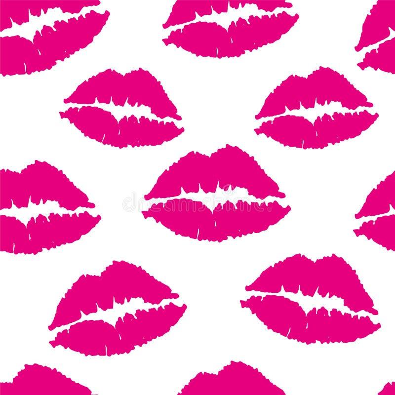 Labbra rosa: modello uniforme Vettore illustrazione vettoriale