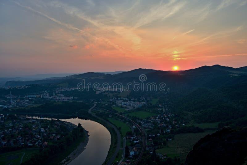 Labe (Elbe) Central Bohemia Uplands stock photo