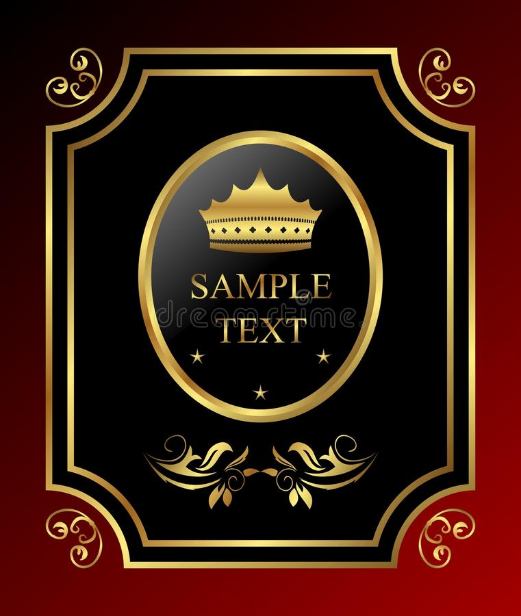 Labe reale dorato royalty illustrazione gratis