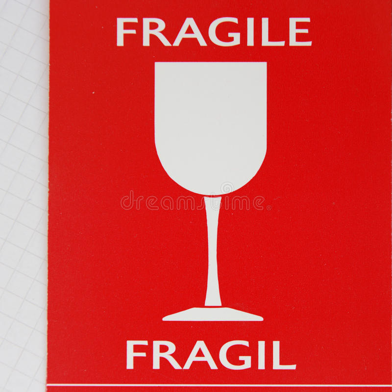 Label. The label fragile for luggage royalty free stock images