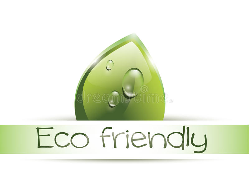 Label amical d'Eco illustration libre de droits