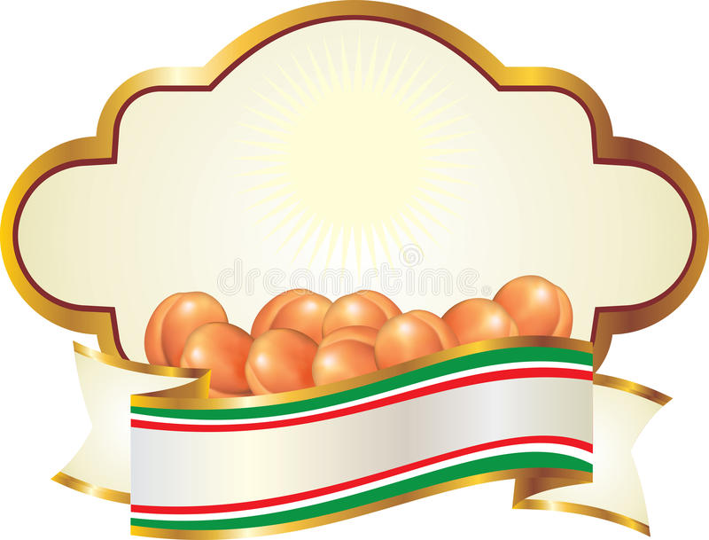 Download Label for Apricots stock illustration. Image of apricot - 22340664