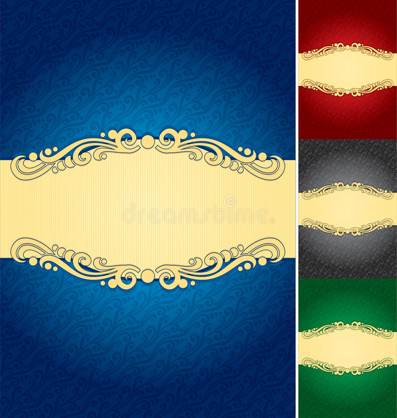 Label background (vector) stock illustration