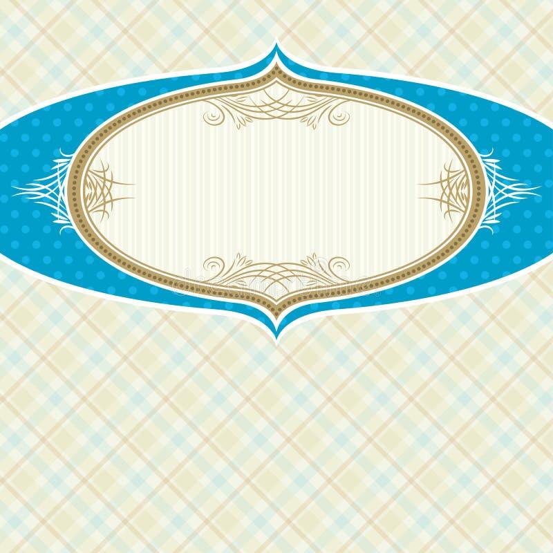 Label on beige checked background vector illustration