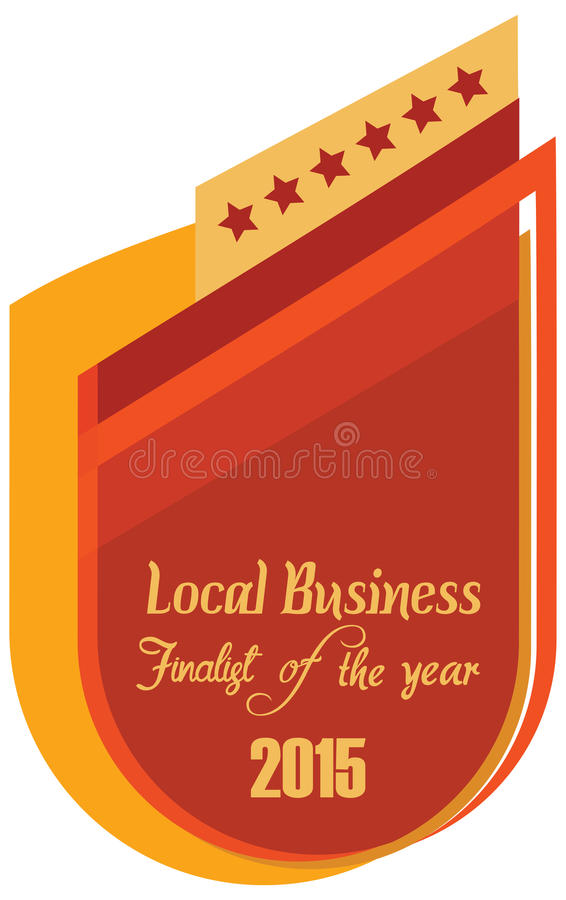 label of best finalist of the year award stock illustration