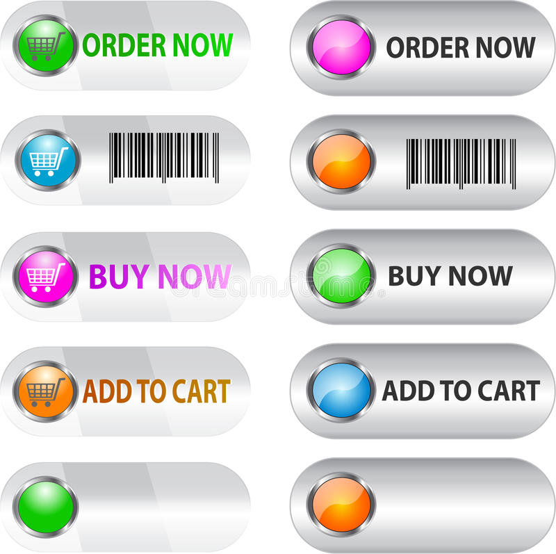 Label/button set for ecommerce