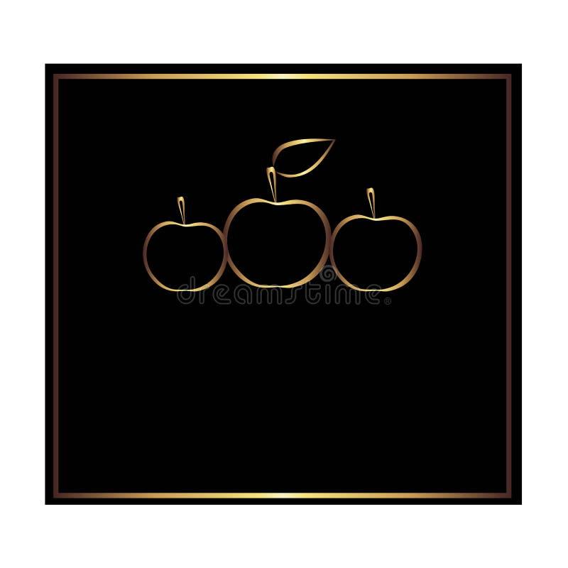 Label carré de noir et d'or pour la bouteille illustration de vecteur