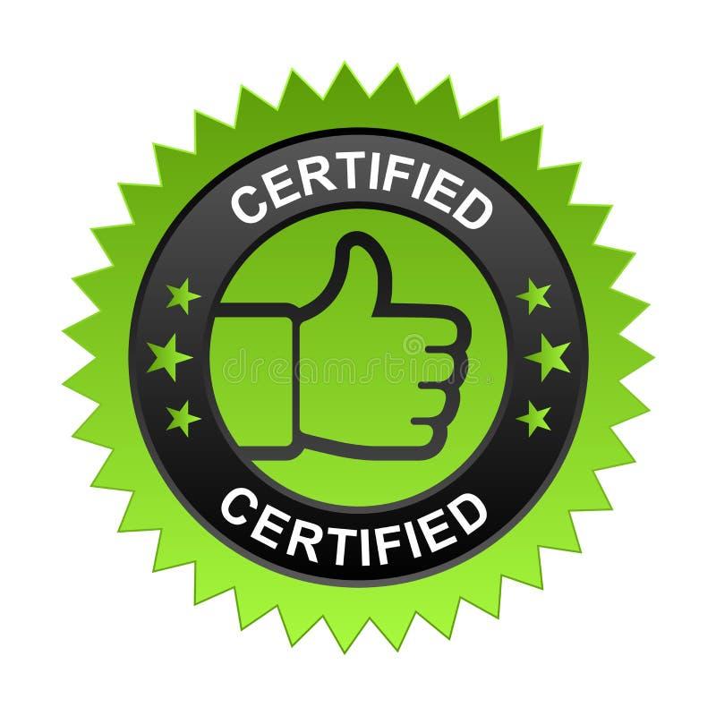 Label certifié illustration de vecteur
