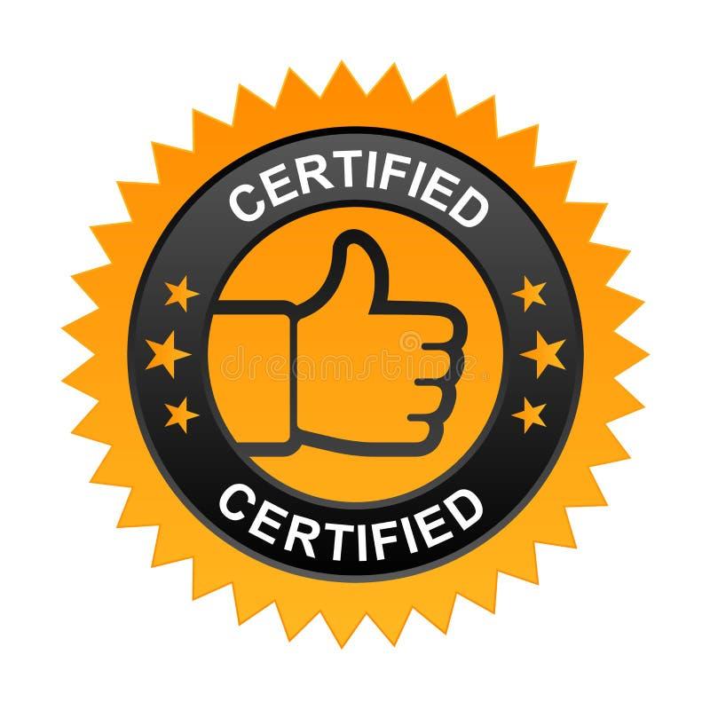 Label certifié illustration libre de droits