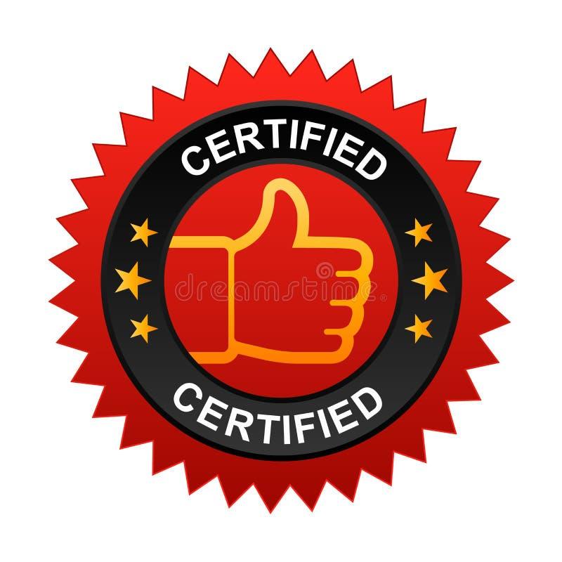 Label certifié illustration stock