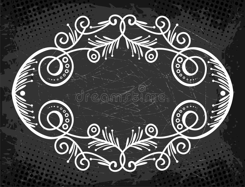 Download Label With Curls And Whorls Royalty Free Stock Photography - Image: 5319427