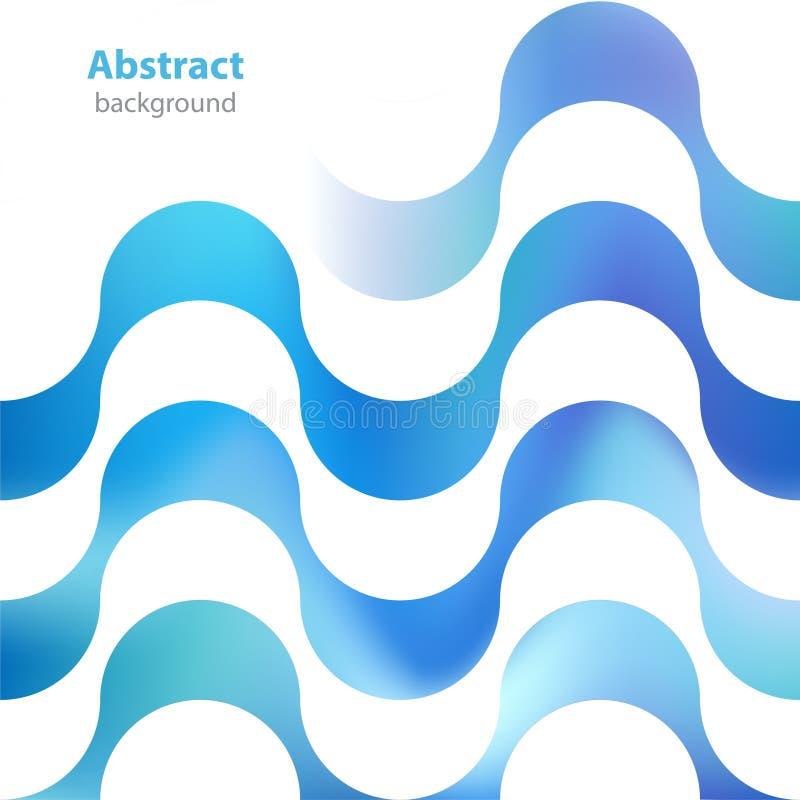 Label décoratif abstrait - différentes couleurs - textur de vagues illustration stock