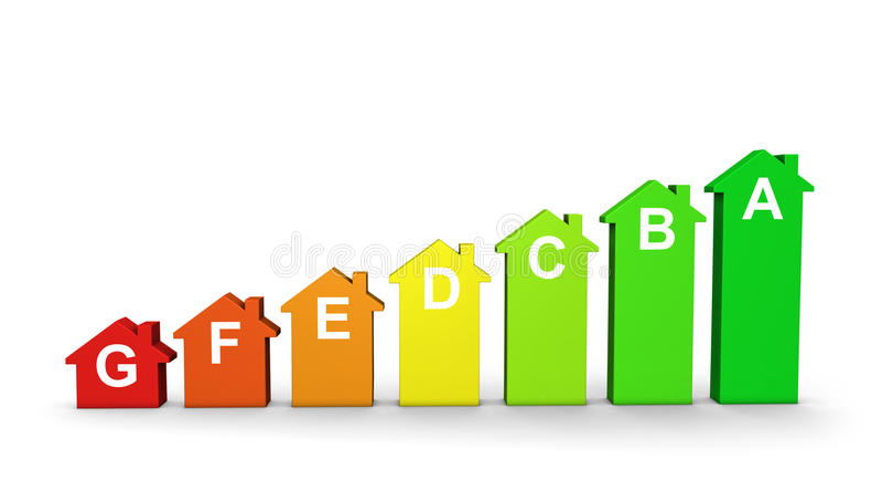 download lefficacit nergtique la maison marque le graphique illustration stock illustration - Classe D Energie D Une Maison