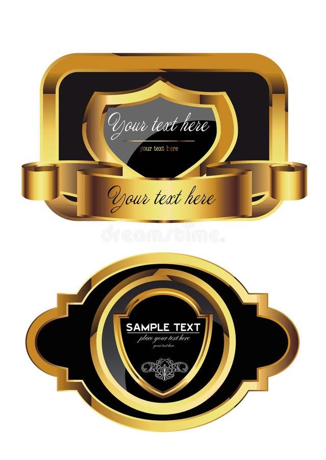 Label d'or image libre de droits