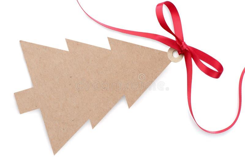 Label de cadeau de Noël photos stock