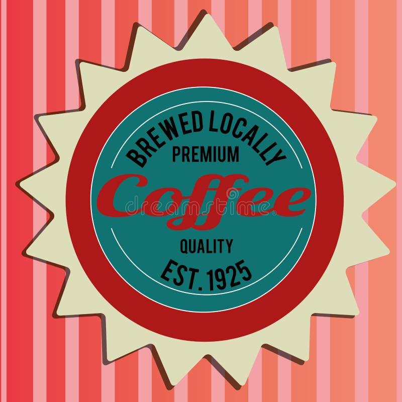 Label de café illustration de vecteur