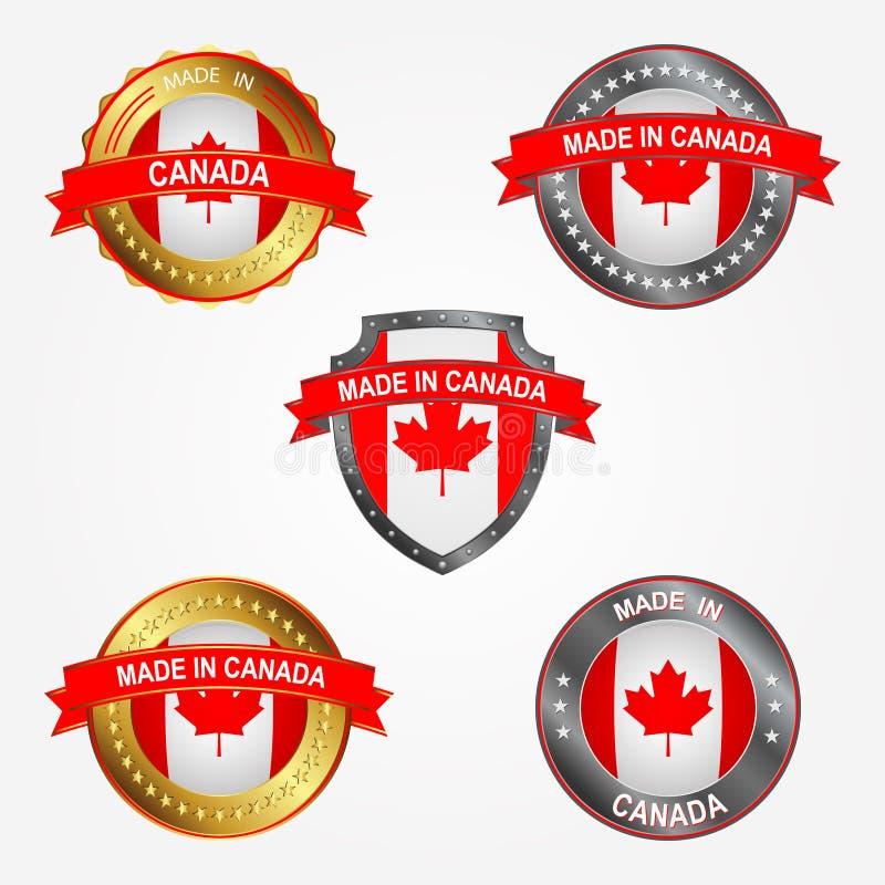 Label de conception de faire au Canada Illustration de vecteur illustration de vecteur