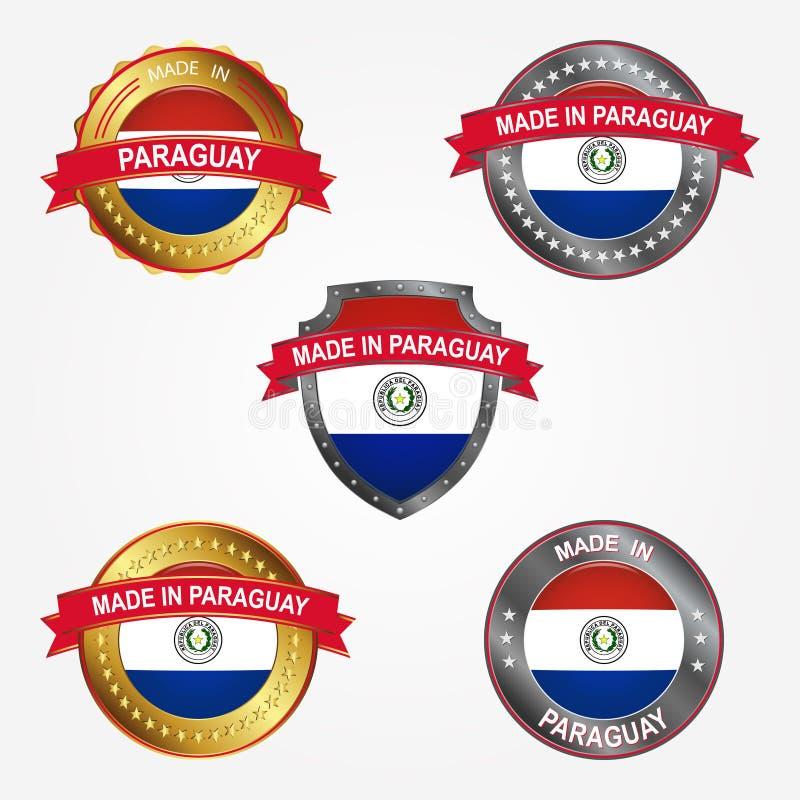 Label de conception de faire au Paraguay Illustration de vecteur illustration de vecteur