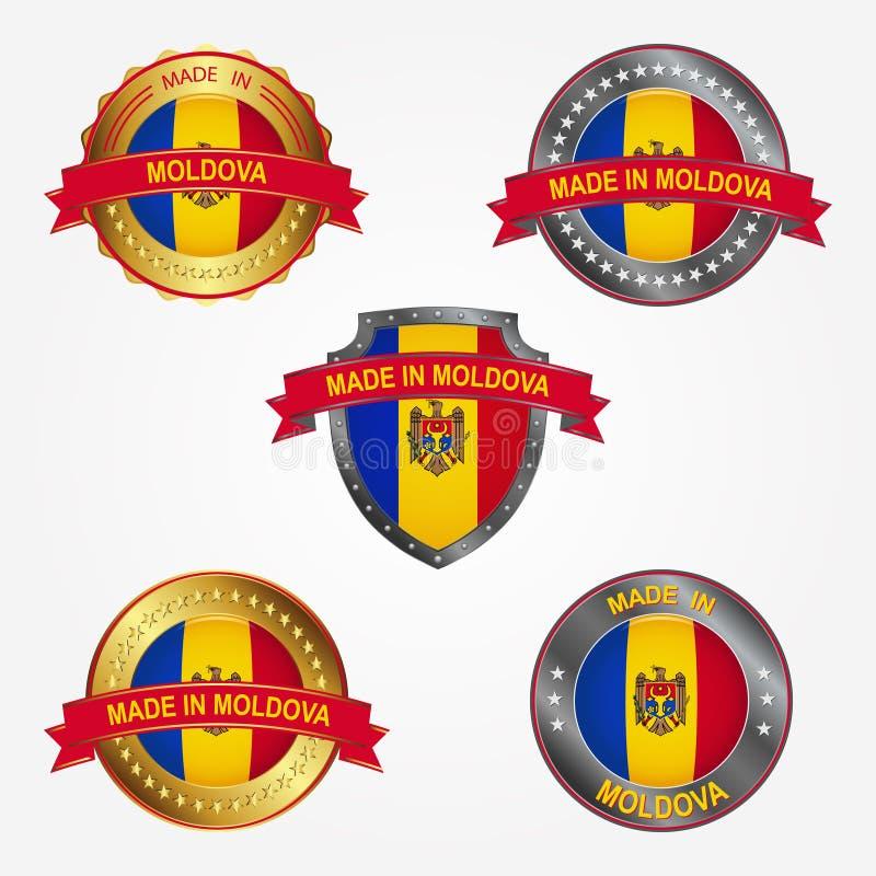 Label de conception de faire dans Moldau Illustration de vecteur illustration libre de droits