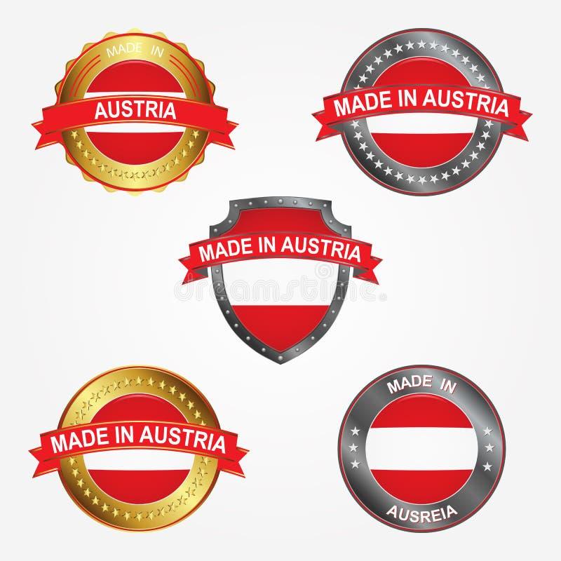 Label de conception de faire en Autriche Illustration de vecteur illustration de vecteur