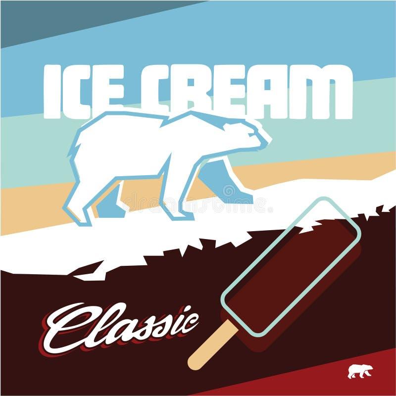 Label de crème glacée  Look polaire illustration de vecteur
