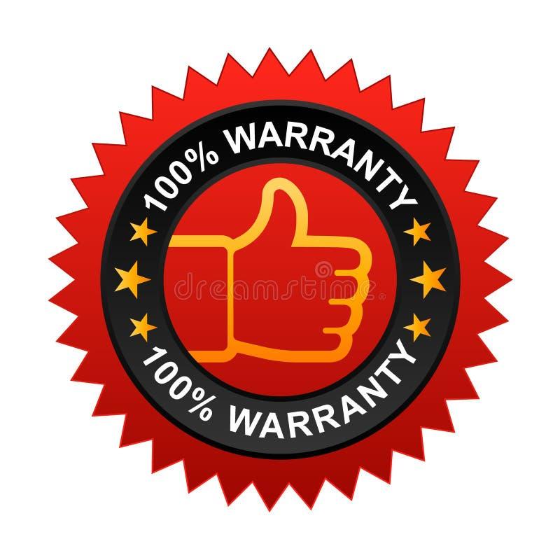 label 100% de garantie illustration libre de droits