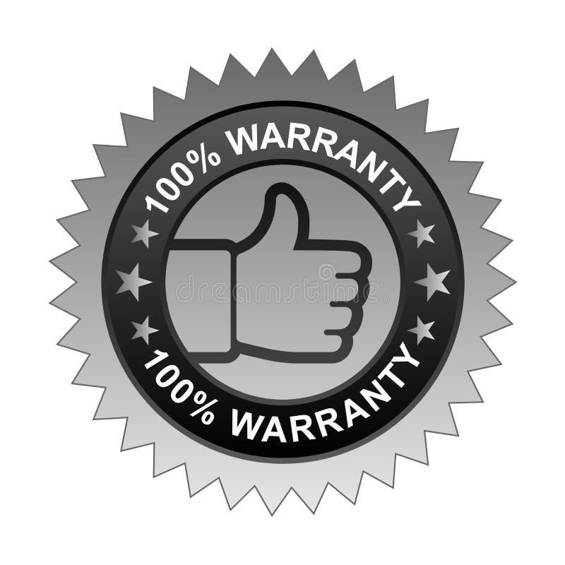 label 100% de garantie illustration stock