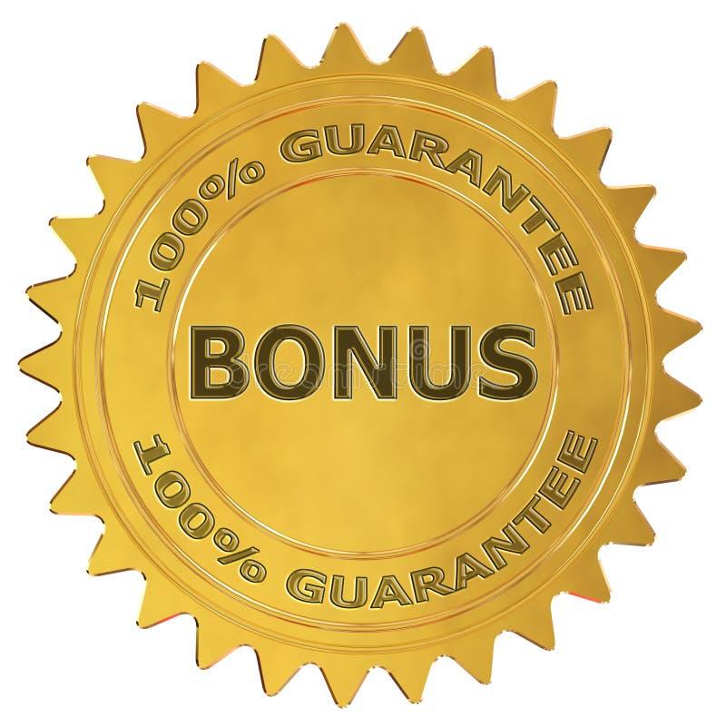 Label de garantie de bonification illustration stock