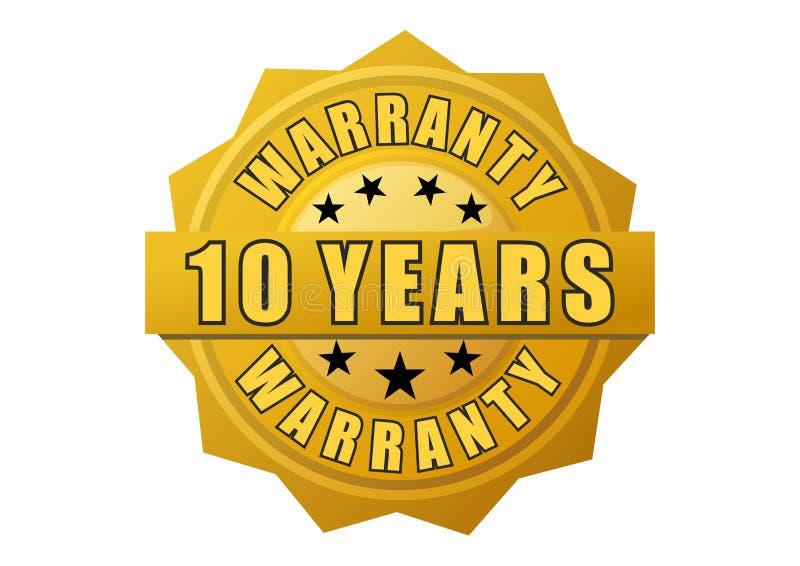 Label de garantie d'or illustration de vecteur