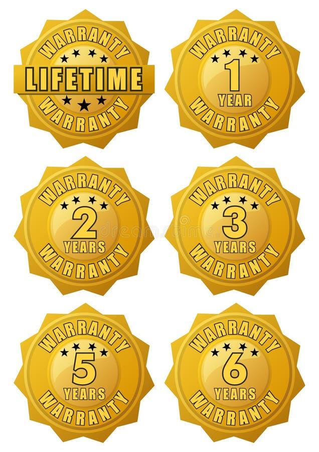 Label de garantie d'or illustration libre de droits