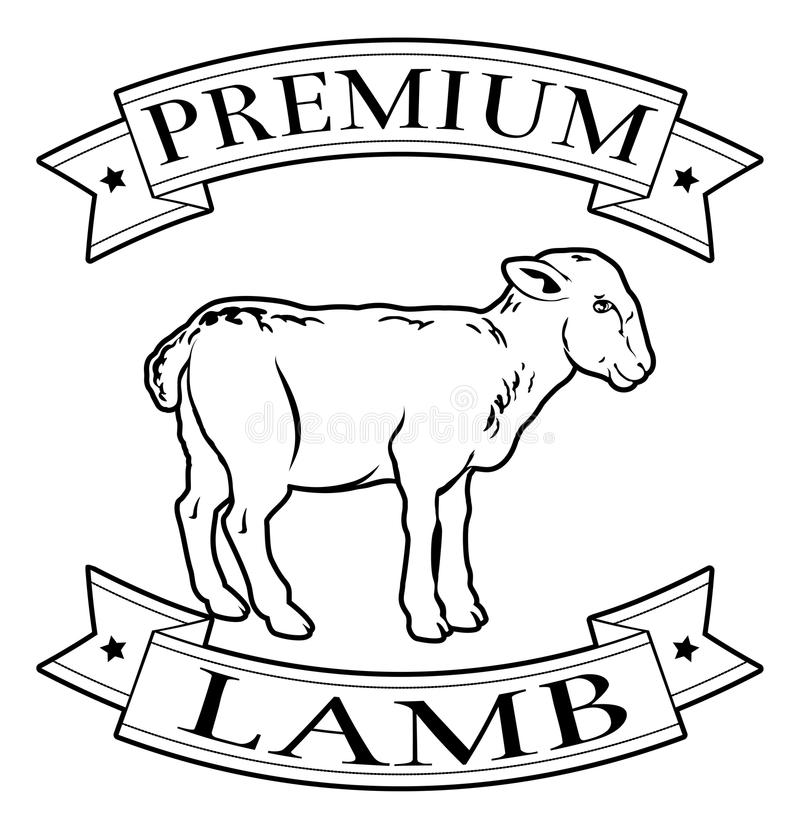Download Label De La Meilleure Qualité De Nourriture D'agneau Illustration de Vecteur - Illustration du isolement, ramassage: 45370833