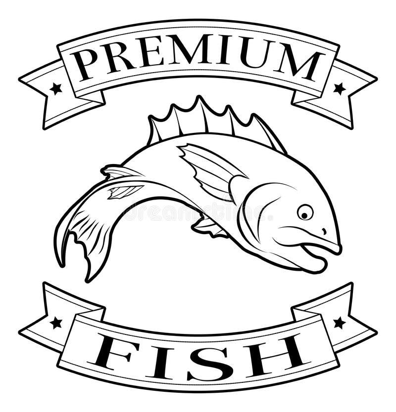 Download Label De La Meilleure Qualité De Nourriture De Poissons Illustration de Vecteur - Illustration du qualité, insigne: 45370845