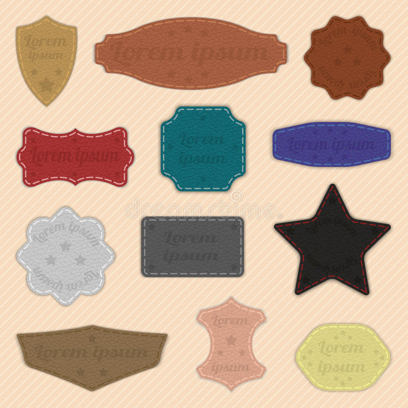 Label de labels de cuir image stock