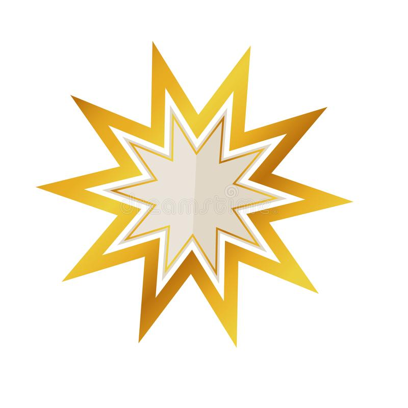 Label de luxe d'or vide d'isolement d'étoile illustration de vecteur