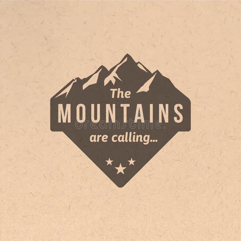 Label de montagne de vintage illustration libre de droits