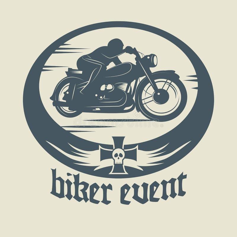 Label de moto illustration stock