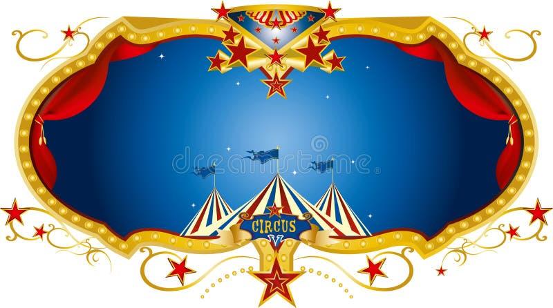Label de nuit de cirque illustration libre de droits