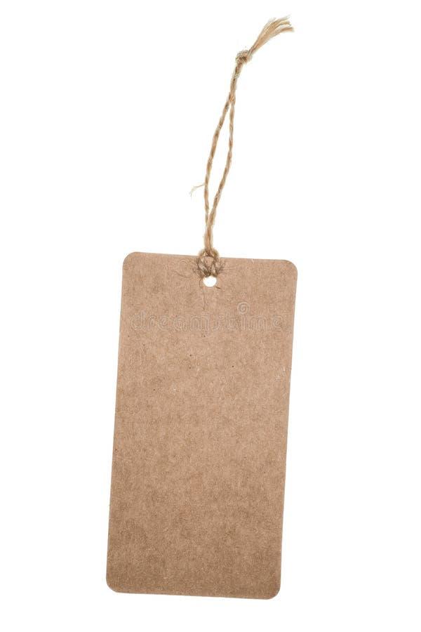 Label de papier d'emballage images libres de droits