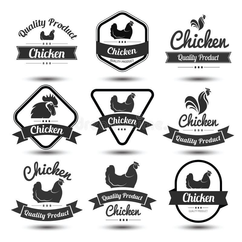 Label 4 de poulet illustration libre de droits