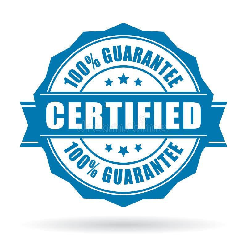 Label de produit certifié illustration de vecteur