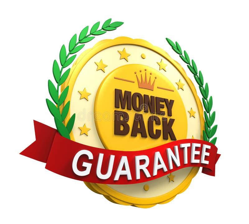 Label de retour garanti d'argent illustration stock